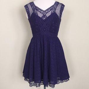 Free People purple lace dress Size 4